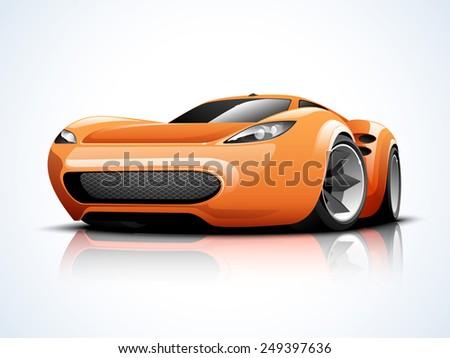glossy high speed sports car