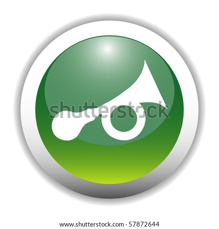 Glossy Horn Sign Button