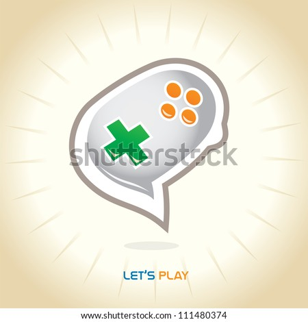 Glossy Joystick Chat Icons, Button, Sign, Symbol, Logo for Family, Baby, Children, Kid, Teenager, People