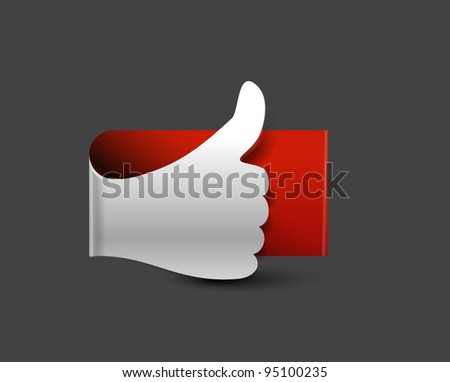 glossy Like/thumbs up symbol design