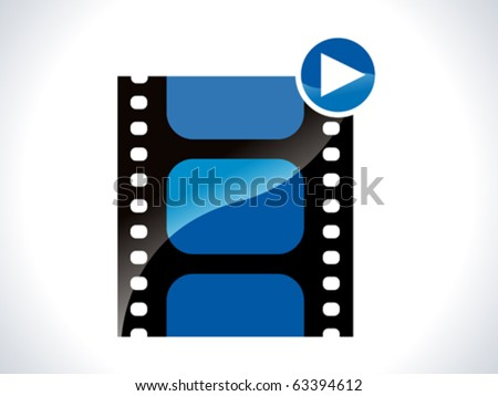 glossy movie icon vector illustration - stock vector