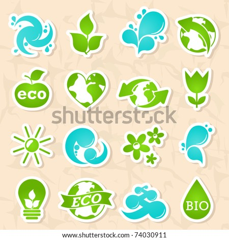 glossy nature and water symbols