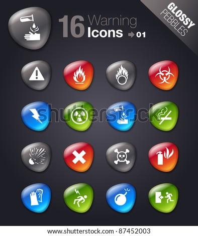 Glossy Pebbles - Warning icons