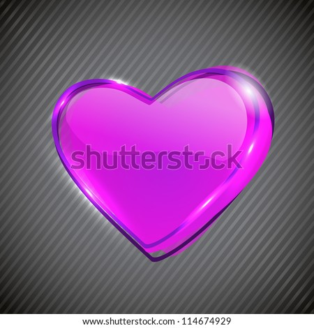 Glossy Pink Valentine Heart. EPS 10.