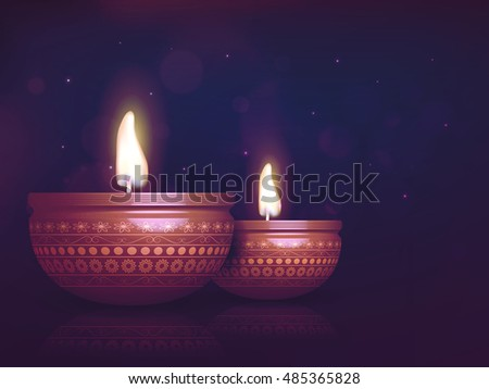 creative oil lamps oil lit lamp on beautiful floral background download free vector
