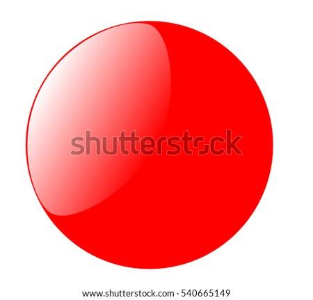 glossy red button icon design