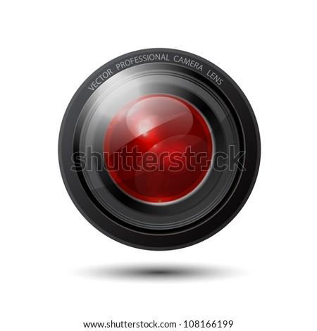 Glossy reflective vector camera lens
