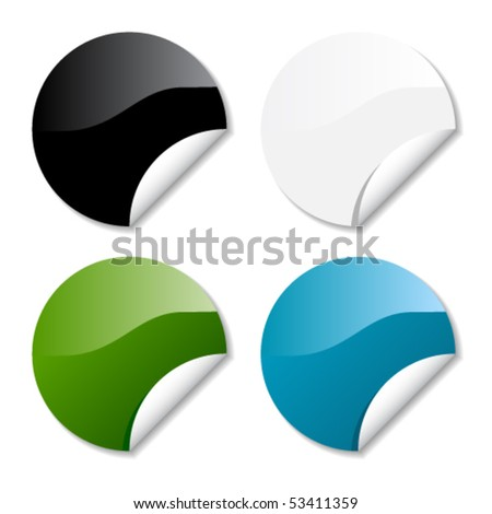 Glossy round stickers