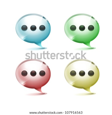 Glossy speech bubbles/forum icons