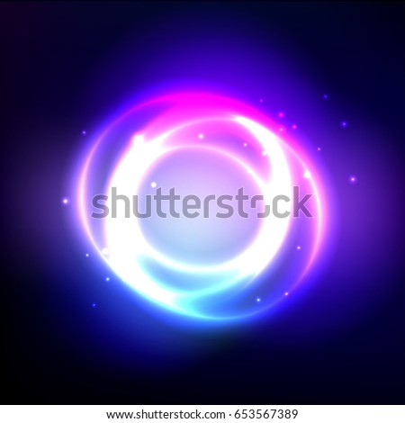 glossy sphere with light effect