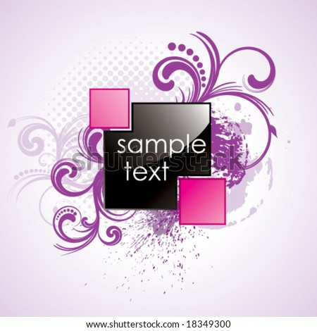 glossy square - stock vector