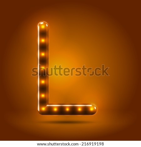 stock-vector-glossy-stylish-sans-serif-lighted-capital-letter-l-letter-over-warm-caramel-candy-background