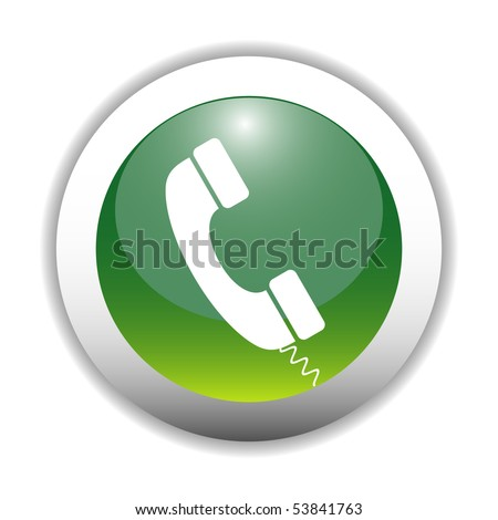 Glossy Telephone Sign Button