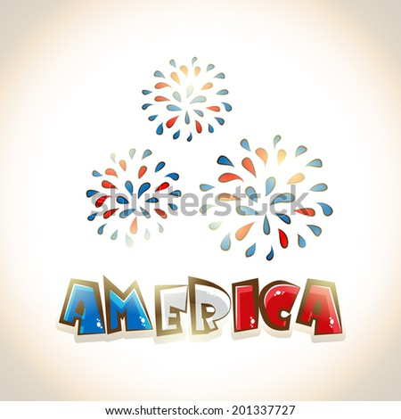 glossy text america and