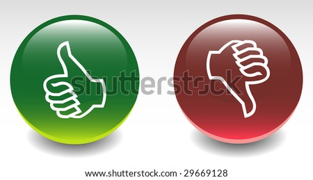 Glossy Thumbs Up & Down Icons