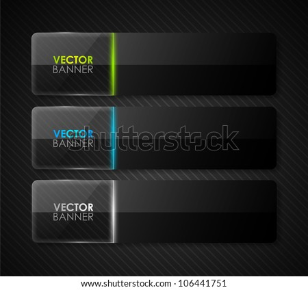 stock-vector-glossy-vector-banners