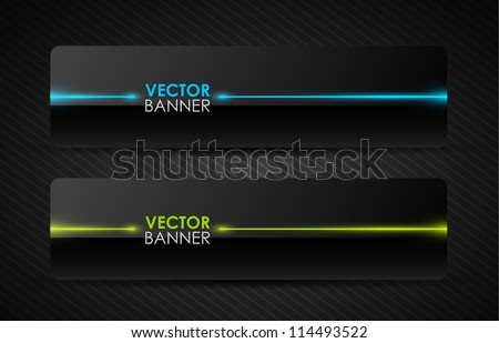 glossy vector banners