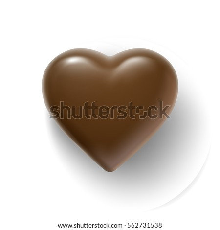 glossy vector chocolate heart