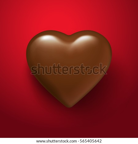 glossy vector chocolate heart