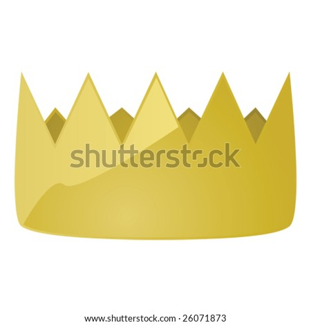 Glossy vector illustration of a golden king's crown