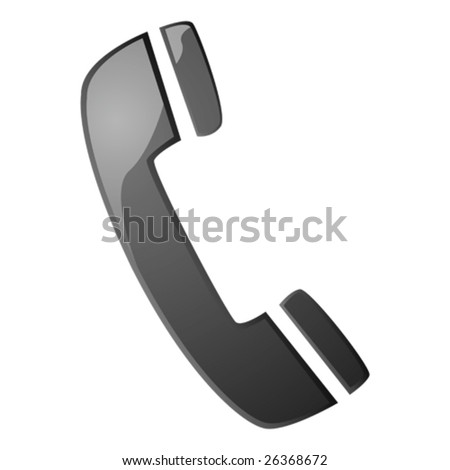 Glossy vector illustration with a telephone handset icon