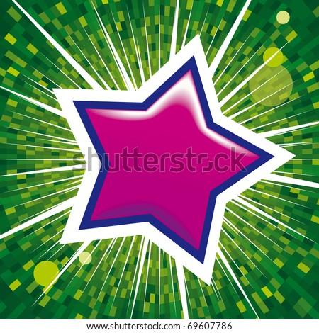 glossy web icon - star