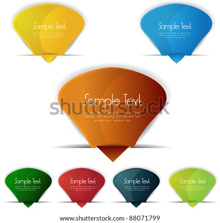 glossy web label,banner or buttons - stock vector