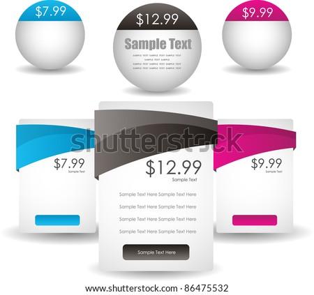 glossy web sale banners