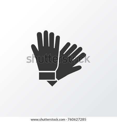 Glove Icon Symbol. Premium Quality Isolated Mitten Element In Trendy Style.