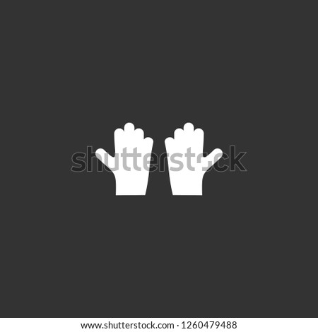 gloves icon vector. gloves sign on black background. gloves icon for web and app