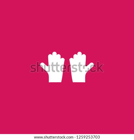 gloves icon vector. gloves sign on pink background. gloves icon for web and app