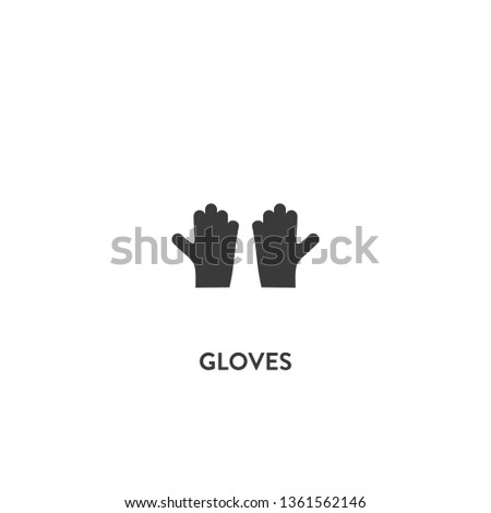 gloves icon vector. gloves sign on white background. gloves icon for web and app