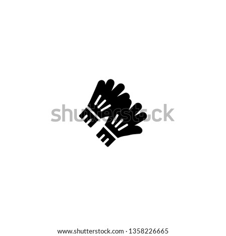 gloves icon vector. gloves vector graphic illustration