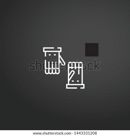 Gloves vector icon. Gloves concept stroke symbol design. Thin graphic elements vector illustration, outline pattern for your web site design, logo, UI. EPS 10.