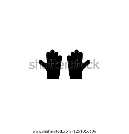 gloves vector icon. gloves sign on white background. gloves icon for web and app