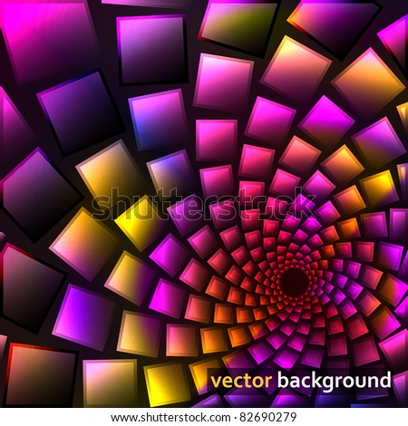 Glow abstract vector background