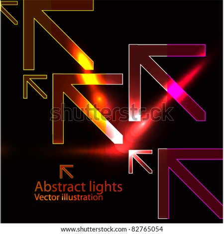 Glow arrows. EPS10 vector abstract background