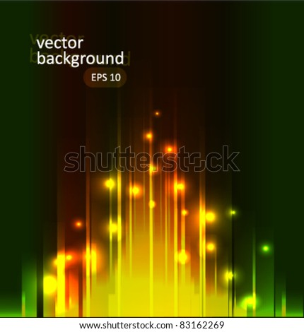 Glow dots and lines abstract background vector illustration