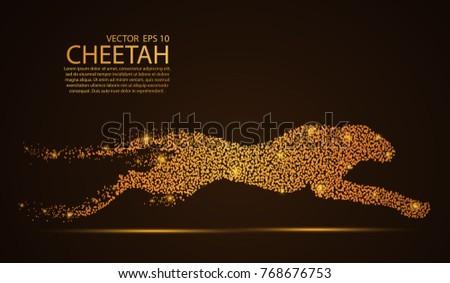 glow glitter cheetah point