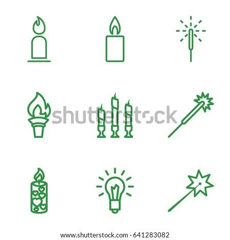 glow icons set set of 9 glow