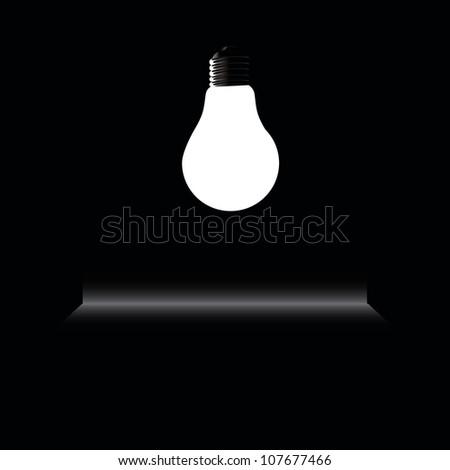 glow in the dark light vector