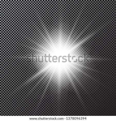 Glow light effect. Abstract effect of lighting flare. Vector. - Векторная графика