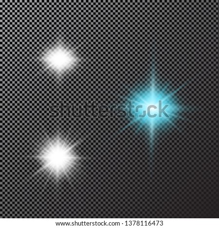 Glow light effect. Abstract effect of lighting flare. Vector
