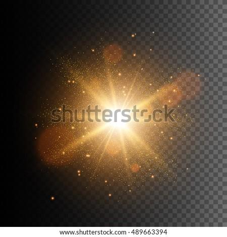 glow light effect star burst