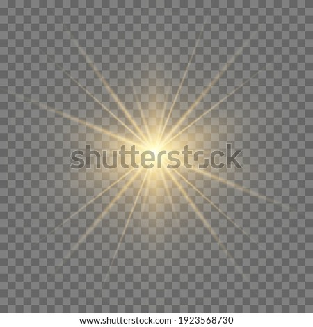 Glow light effect. Star burst with sparkles.Sun. Сток-фото ©
