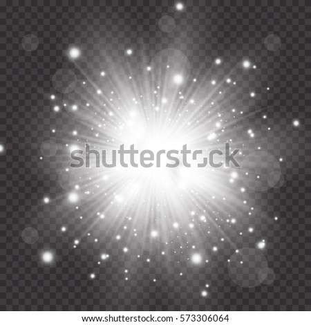 Glow light effect. Star burst with sparkles.Sun.
