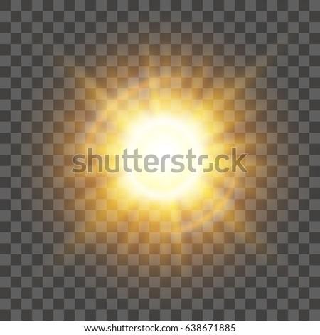 glow light effect. star burst...