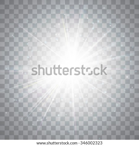Glow light effect. Star burst with sparkles. Vector illustration