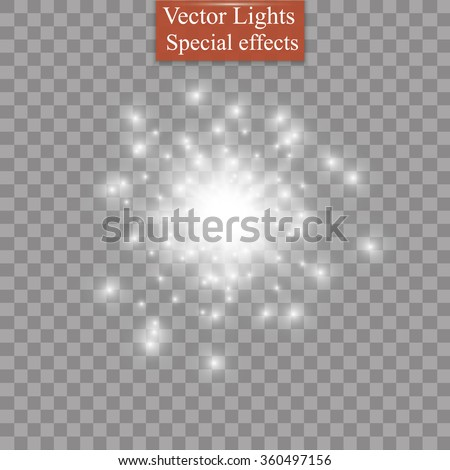 glow light effect star burst
