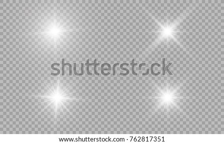 Glow light effect. Vector illustration. Christmas flash Concept.